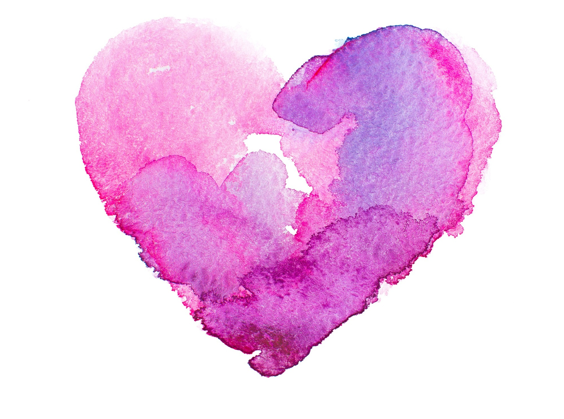watercolor picture of heart