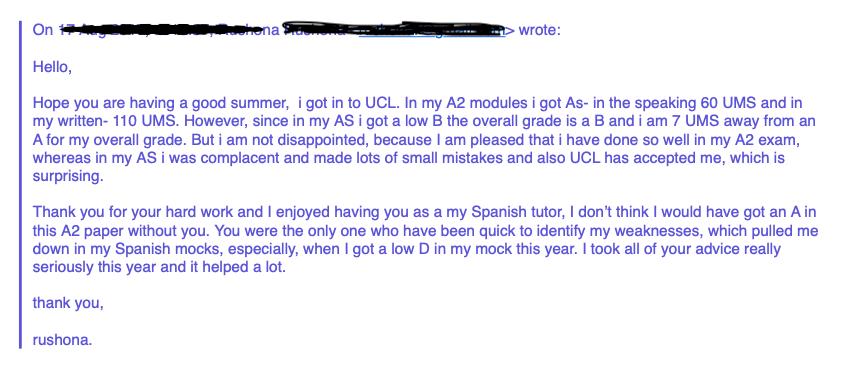 Spanish GCSE exam review