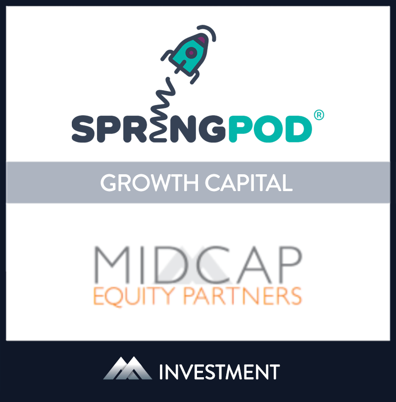 SpringPOD is an online platform based in London, England that connects school students with STEM employers. | SpringPod, MidCap Equity Partners, 7 Jan 2020, United Kingdom, Education