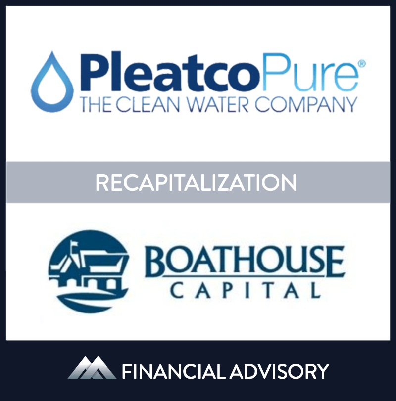 Boathouse Capital, a Philadelphia-based investment fund, invested in Pleatco, a New York water filtration product manufacturer. Pleatco is a leading manufacturer of water filtration products for the pool and spa industry and is known for quality and innovation. Boathouse invested mezzanine debt to recapitalize Pleatco's balance sheet to fund future growth. | Pleatco, Boathouse Capital, 18 Sep 2013, New York,	Manufacturing & Business Services