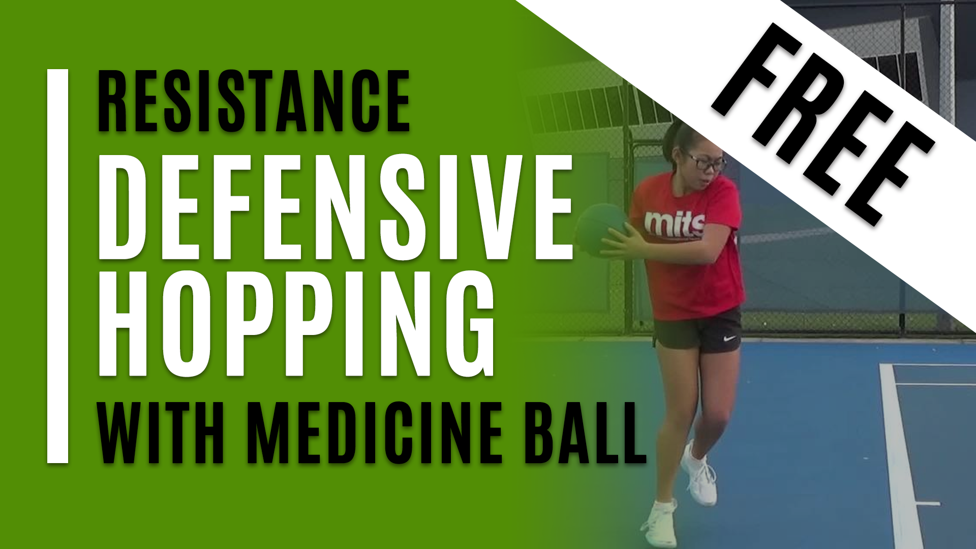 Defensive Hopping - With Medicine Ball