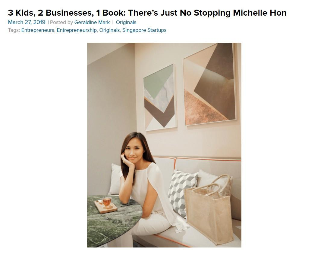 3 Kids, 2 Businesses, 1 Book: There's Just No Stopping Michelle Hon – SingSaver
