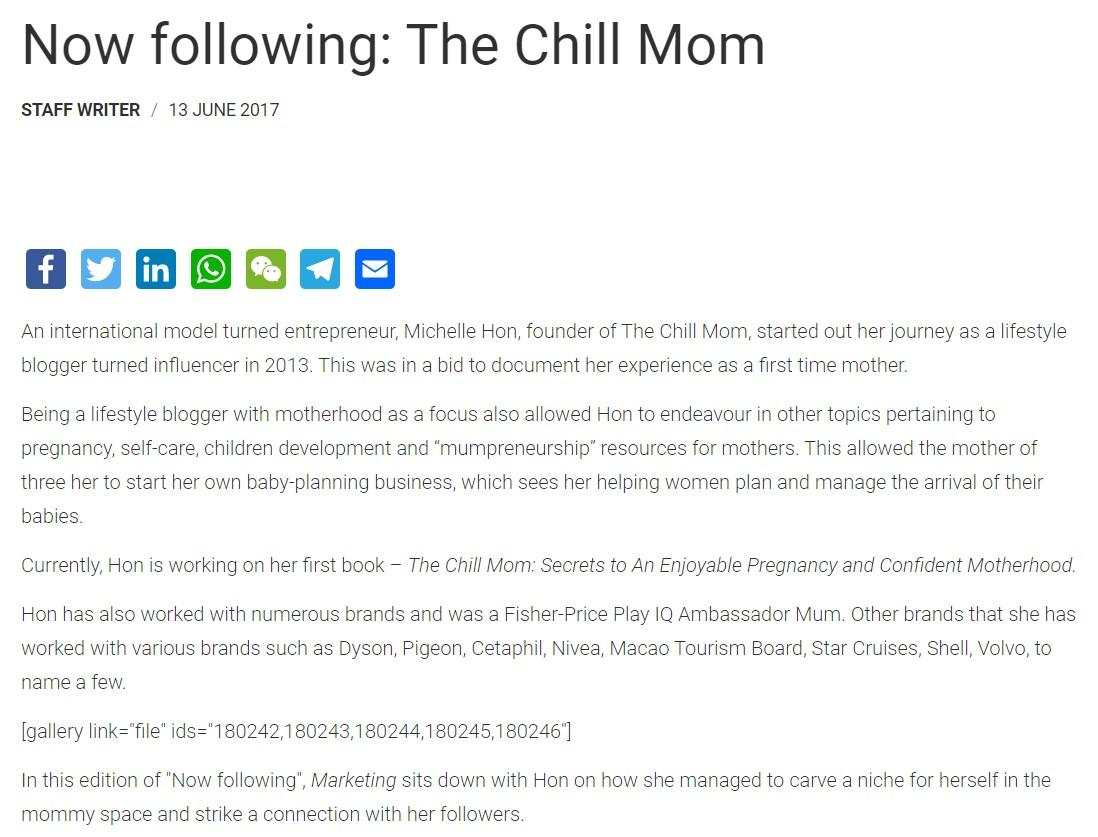 Now Following: The Chill Mom – Marketing Interactive