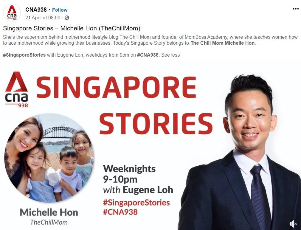 Singapore Stories - Michelle Hon (TheChillMom) – CNA938