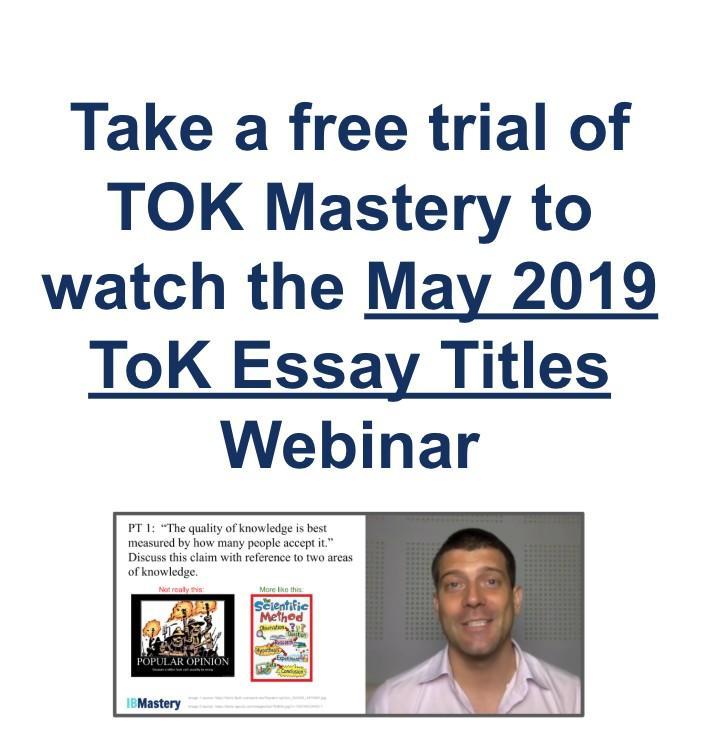 Tok essay titles