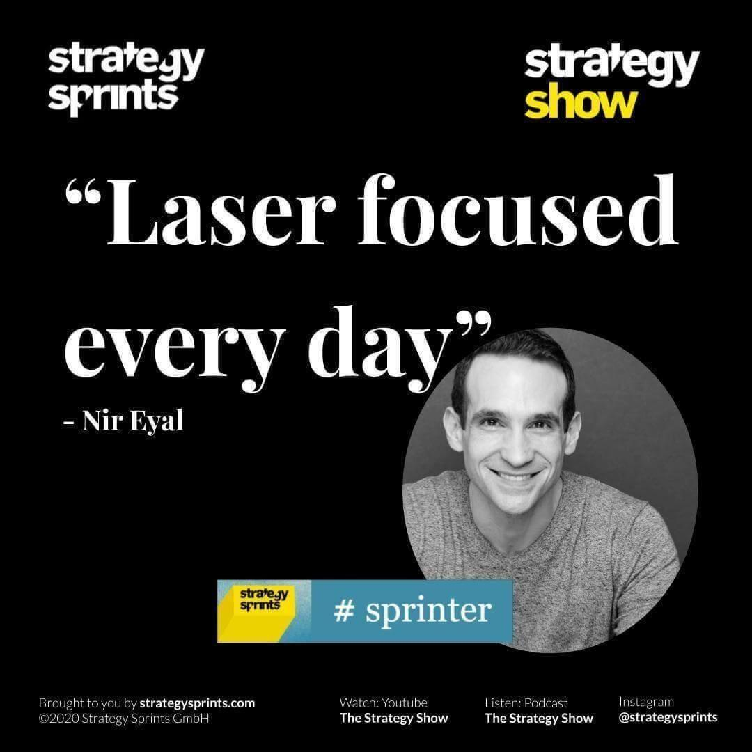 Nir Eyal Strategy Show IG quotes