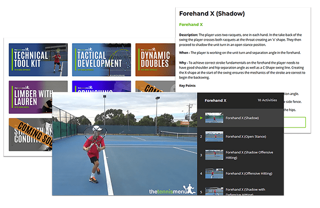 Lesson Planning - The Tennis Menu