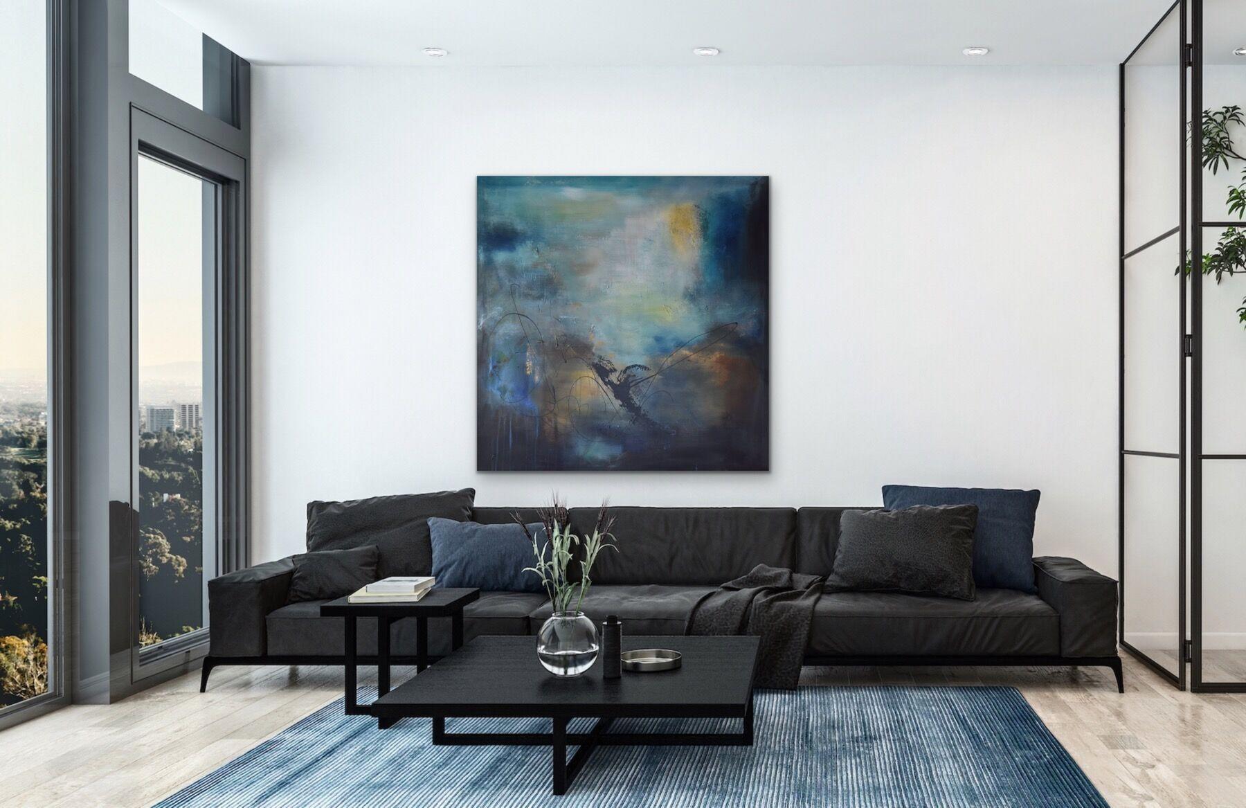 Stort maleri på stuevegg