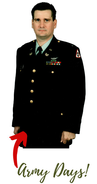 Steven Foust in the Army