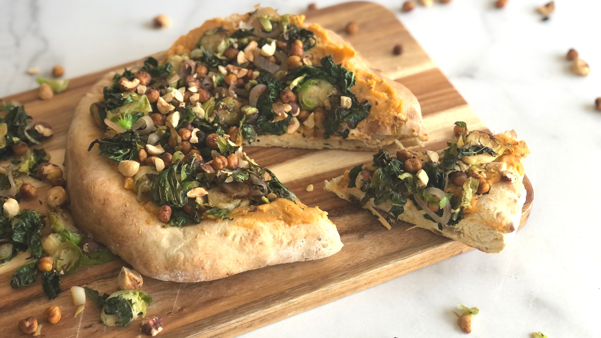 Fall Hummus Pizza