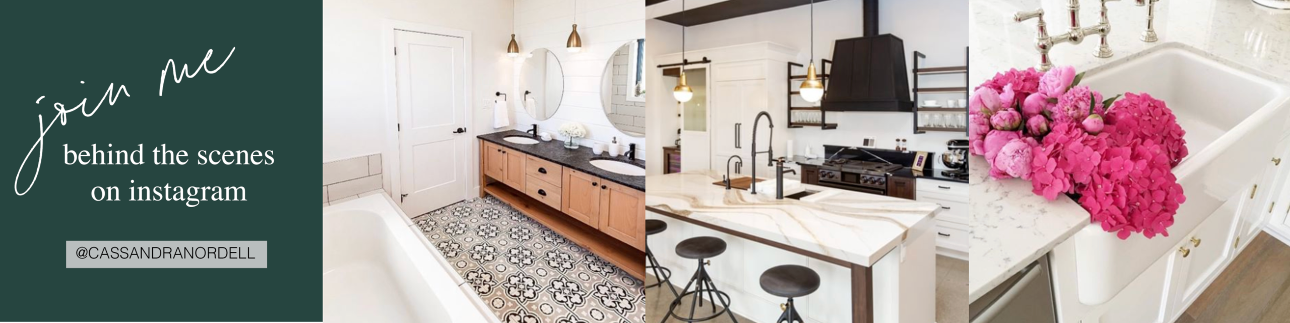 Images of kitchens and bathrooms designed by Cassandra.