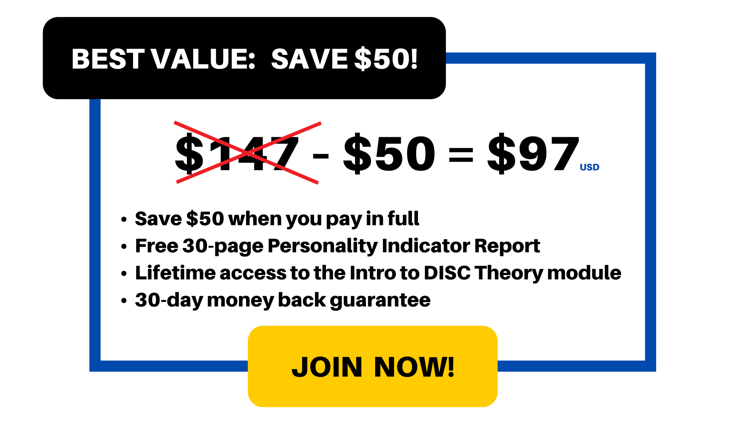 Best Value: $97