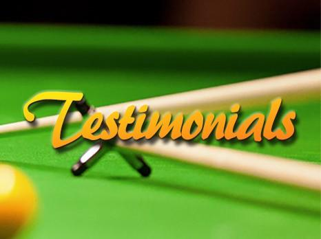 The Snooker Gym Testimonials