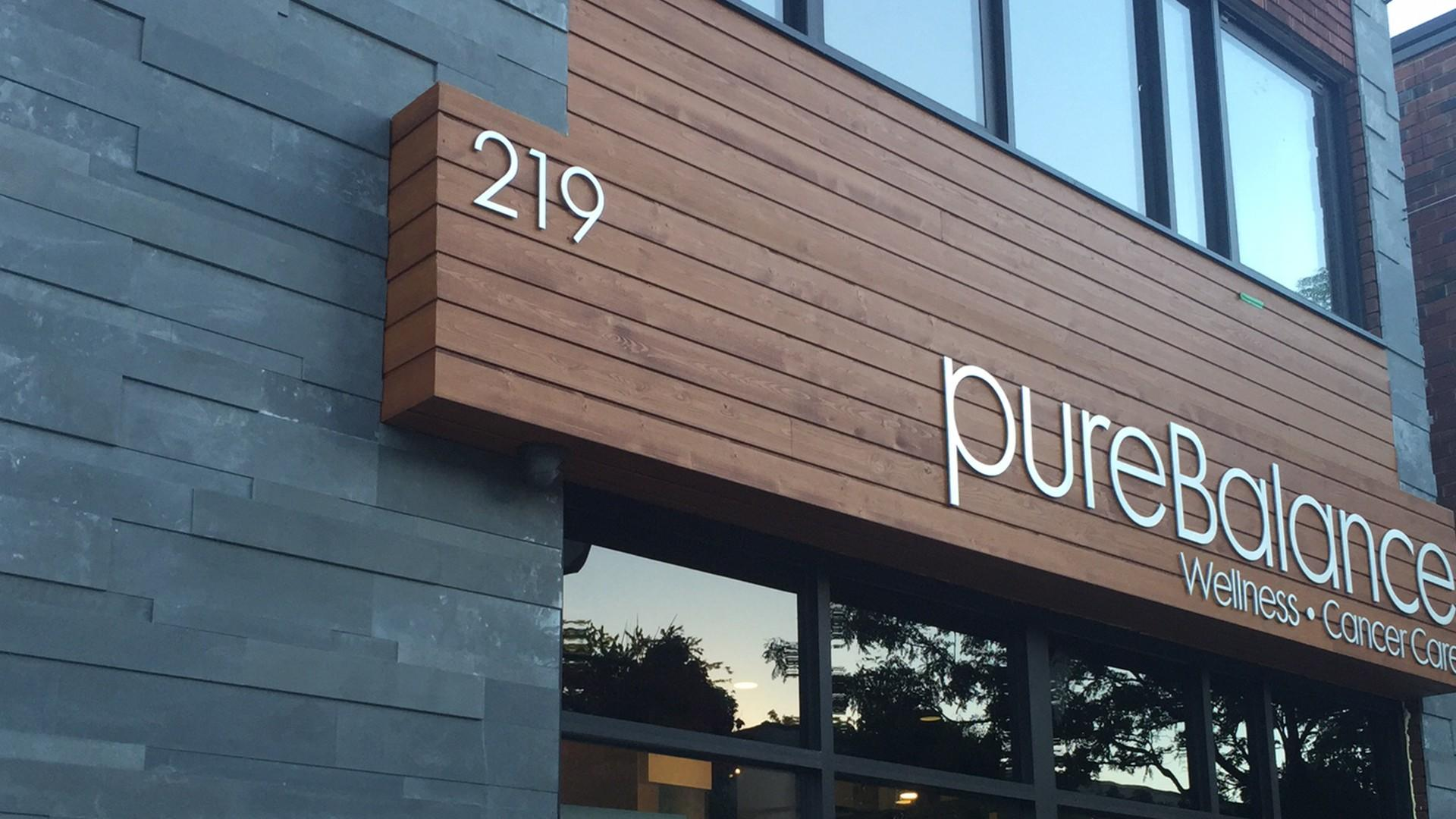 exterior of pureBalance Wellness Cancer Care located in Port Credit / Mississauga