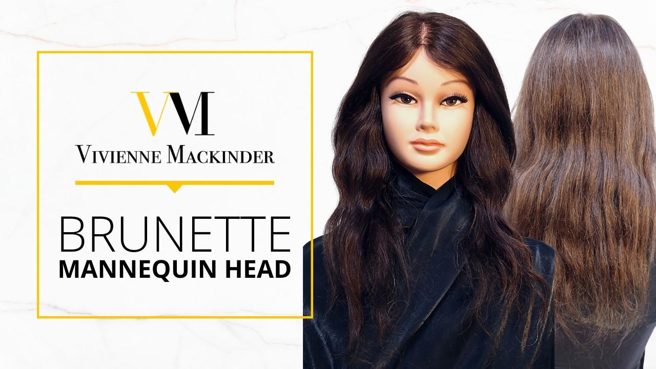 vivienne mackinder's brunette mannequin head and razor bundle