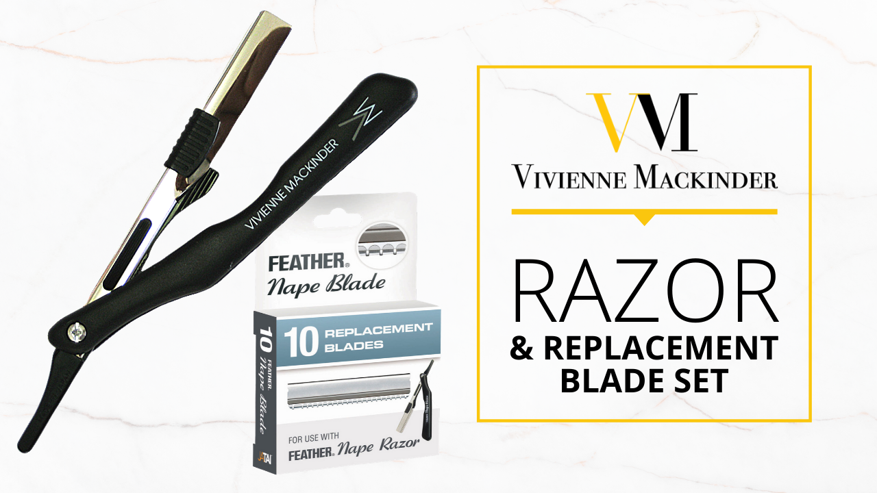 vivienne mackinder's razor and replacement blade set