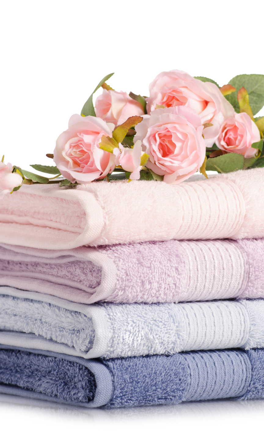 pile of towels for serviced accommodation