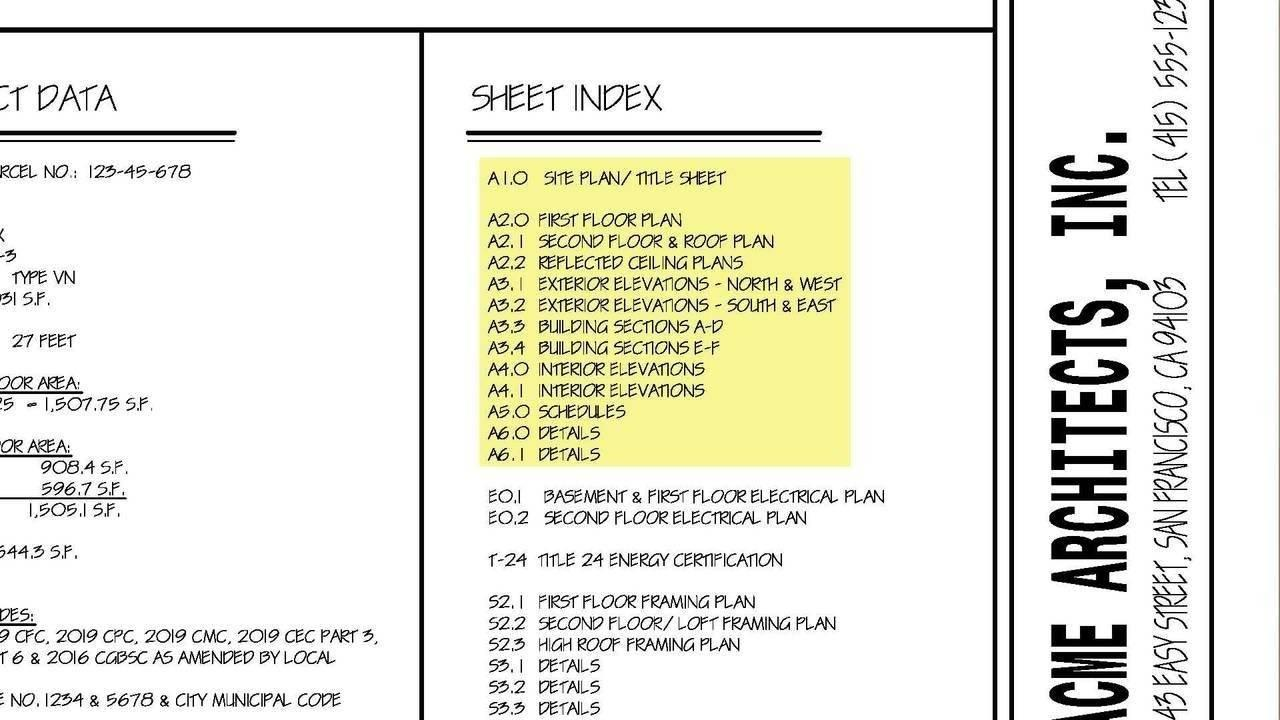 How to read title sheets and lesson plans