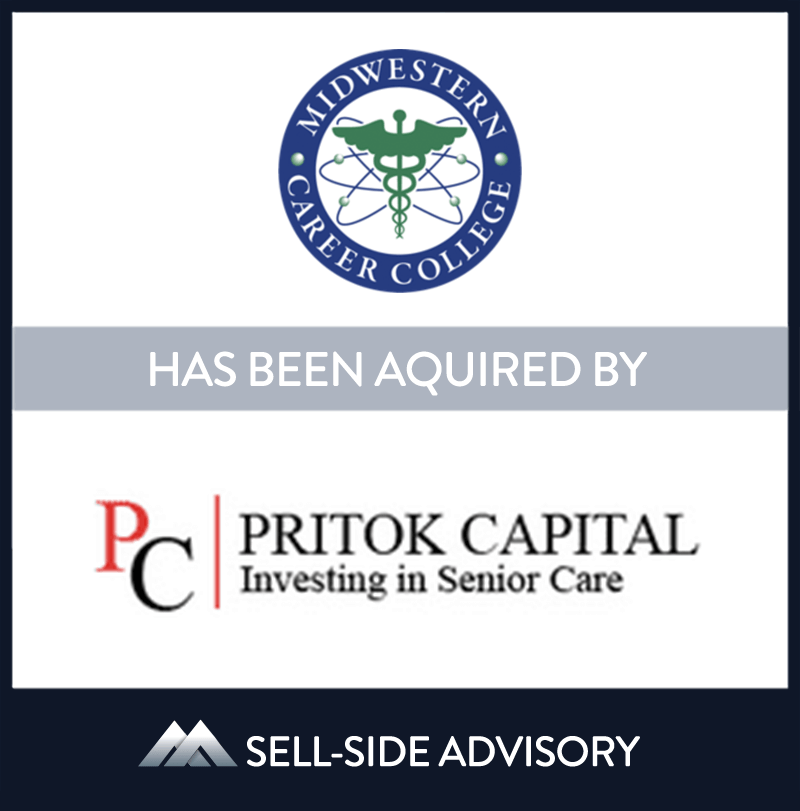 Pritok Capital acquired Midwest Career College (MCC). MCC was established in 2004 to provide students with a well-rounded education to succeed in life. MCC prepares students for certification and licensure examinations in the fields of allied health and healthcare information technology. MidCap served as advisor to Midwestern Career College. | Midwestern Career College, Pritok Capital, 01 Jan 2016, Illinois, Education