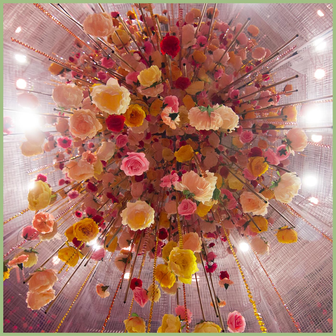 Large floral hanging installation