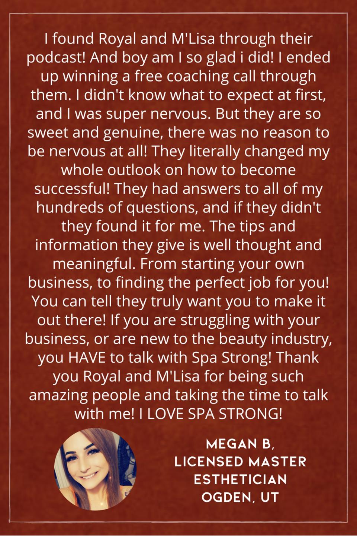 Spa Strong Coaching Testimonial