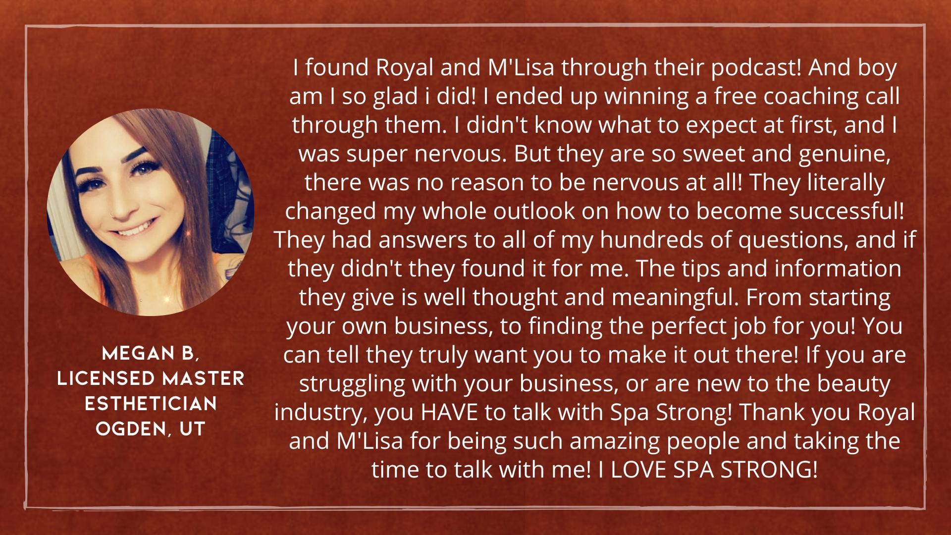 Spa Strong Testimonial