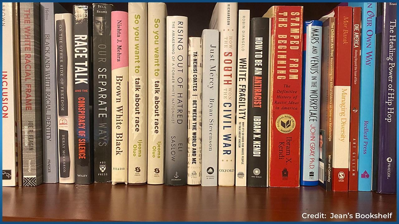 Books on Jean's Bookshelf