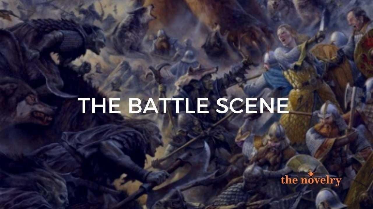 the battle scene