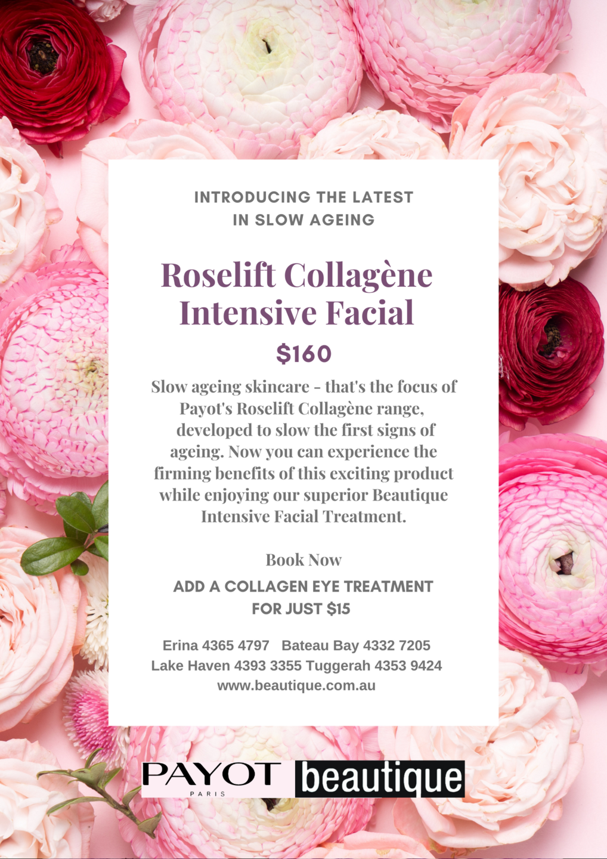 Slow ageing rose collagène facial