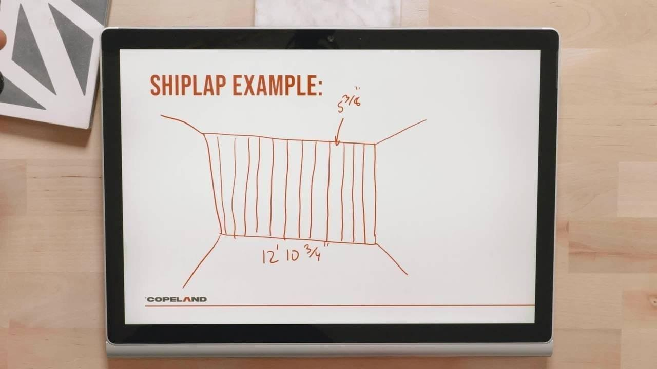 Equal spacing shiplap