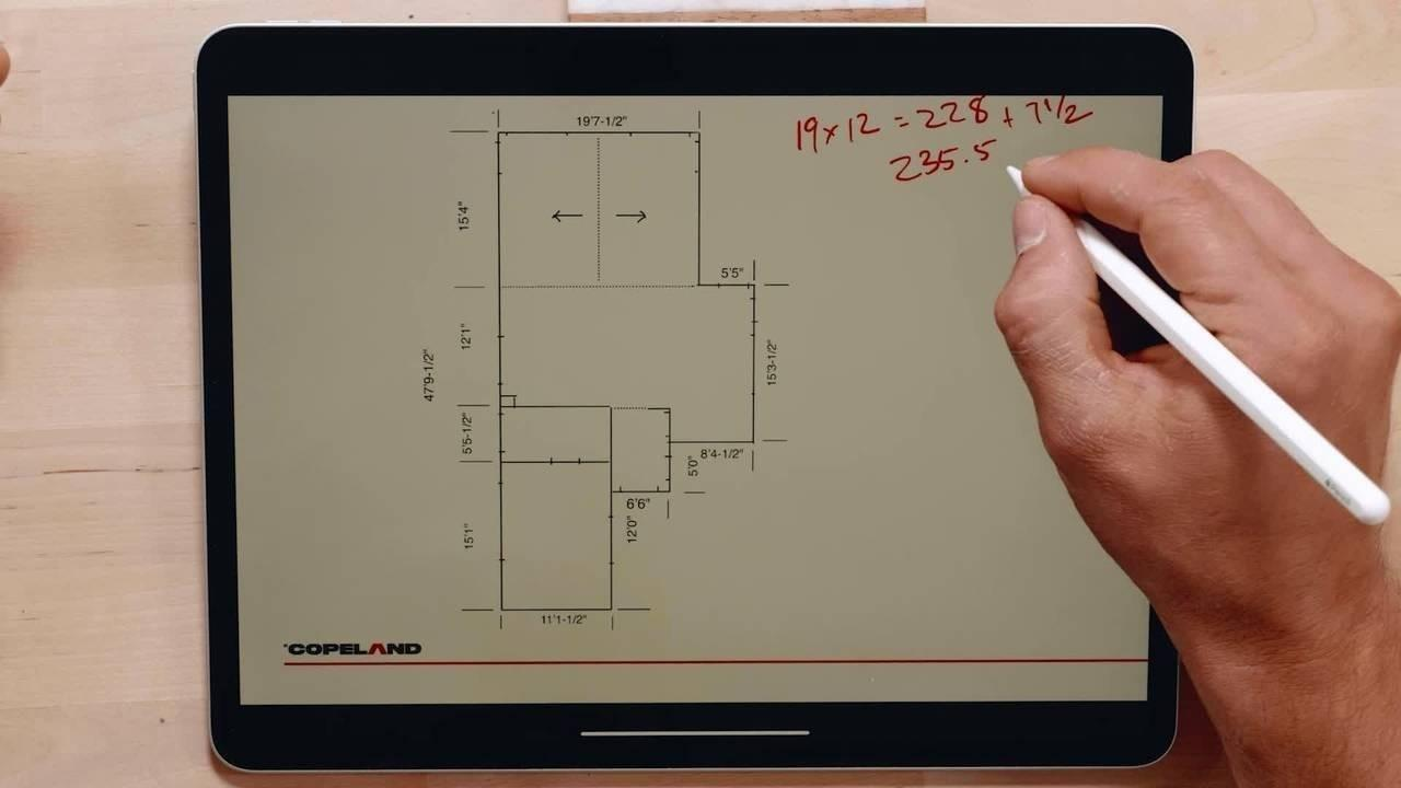 Calculating areas of floor plans