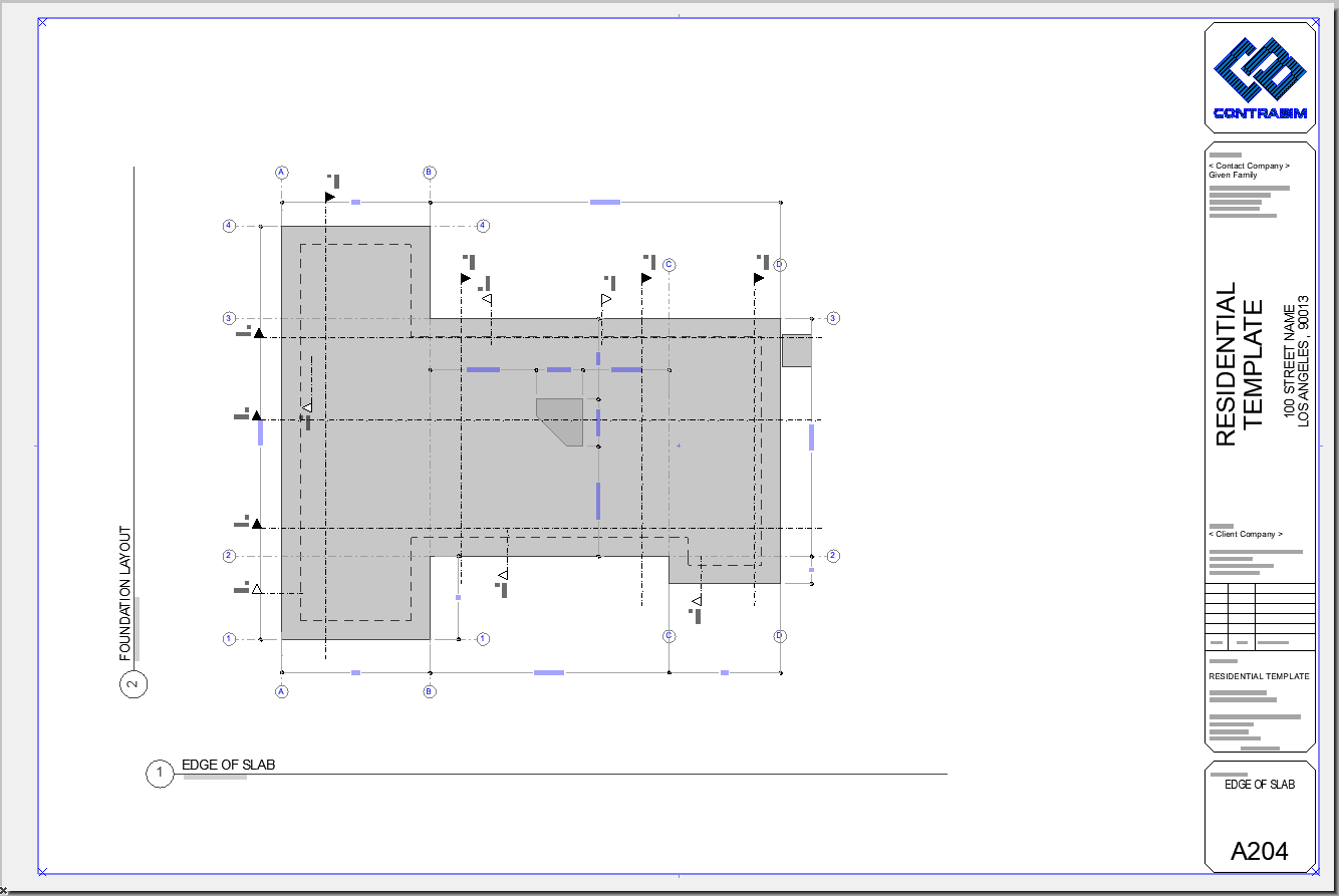 Edge of Slab Layout