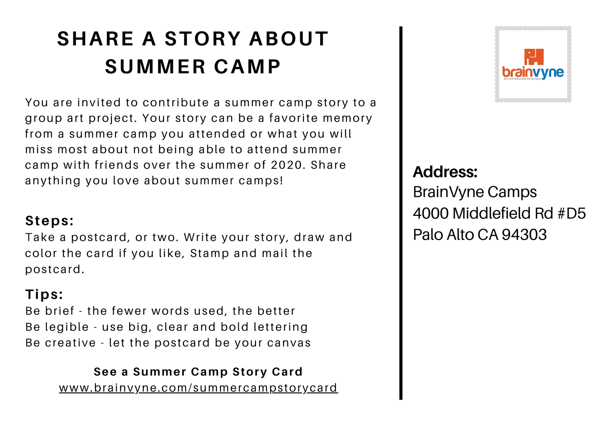 Share a Story About Summercamp Image
