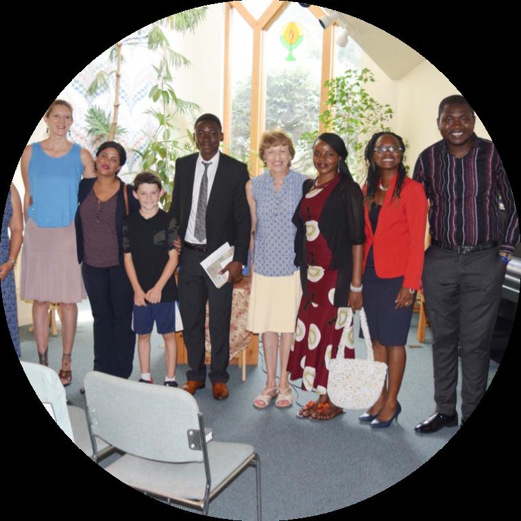 Gael Wood with the Mandela Washington Fellows in Boone, NC