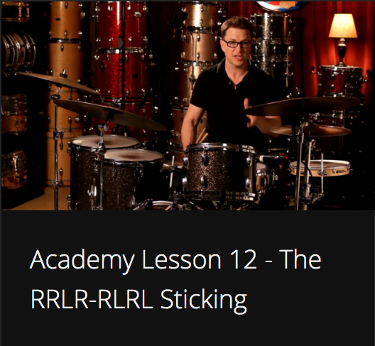 Academy Lesson 12 - The RRLR-RLRL Sticking