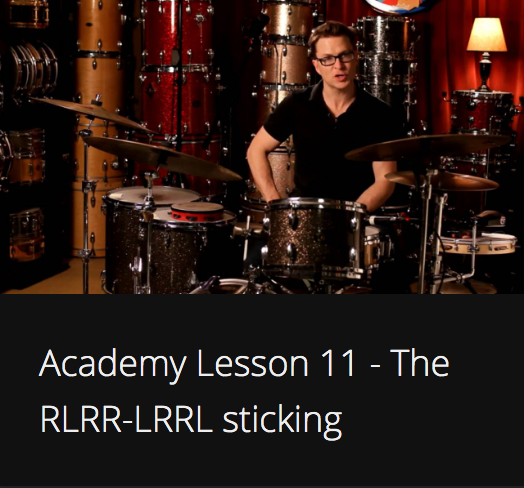 Academy Lesson 11 - The RLRR-LRRL sticking
