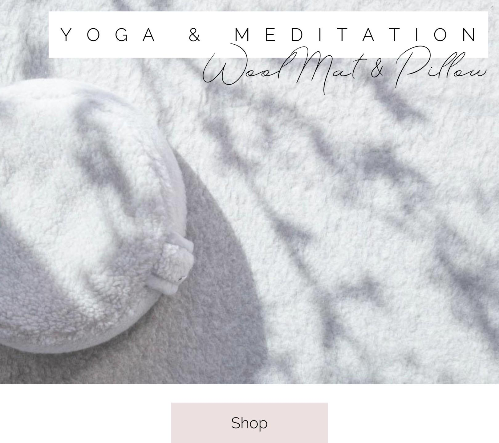 yoga mat and meditation pillow
