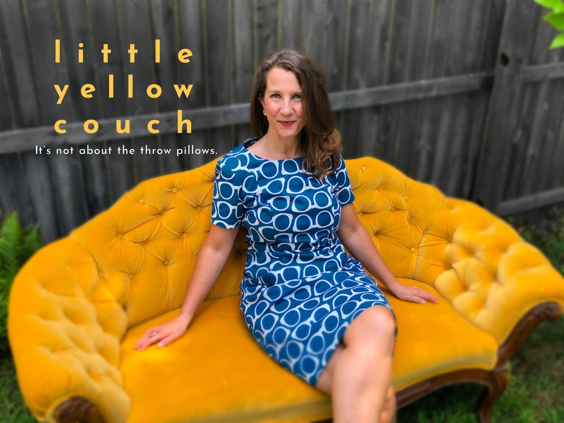 Little Yellow Couch.  It's not about the throw pillows.