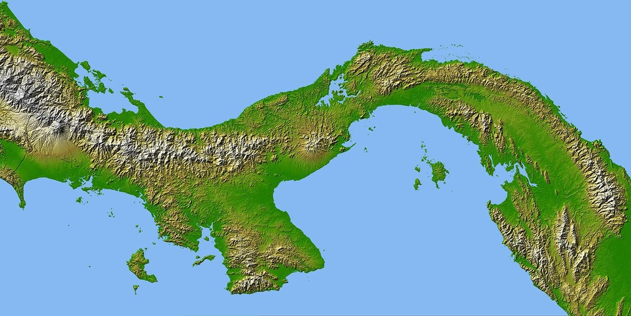 The Geography of the Panamanian Isthmus