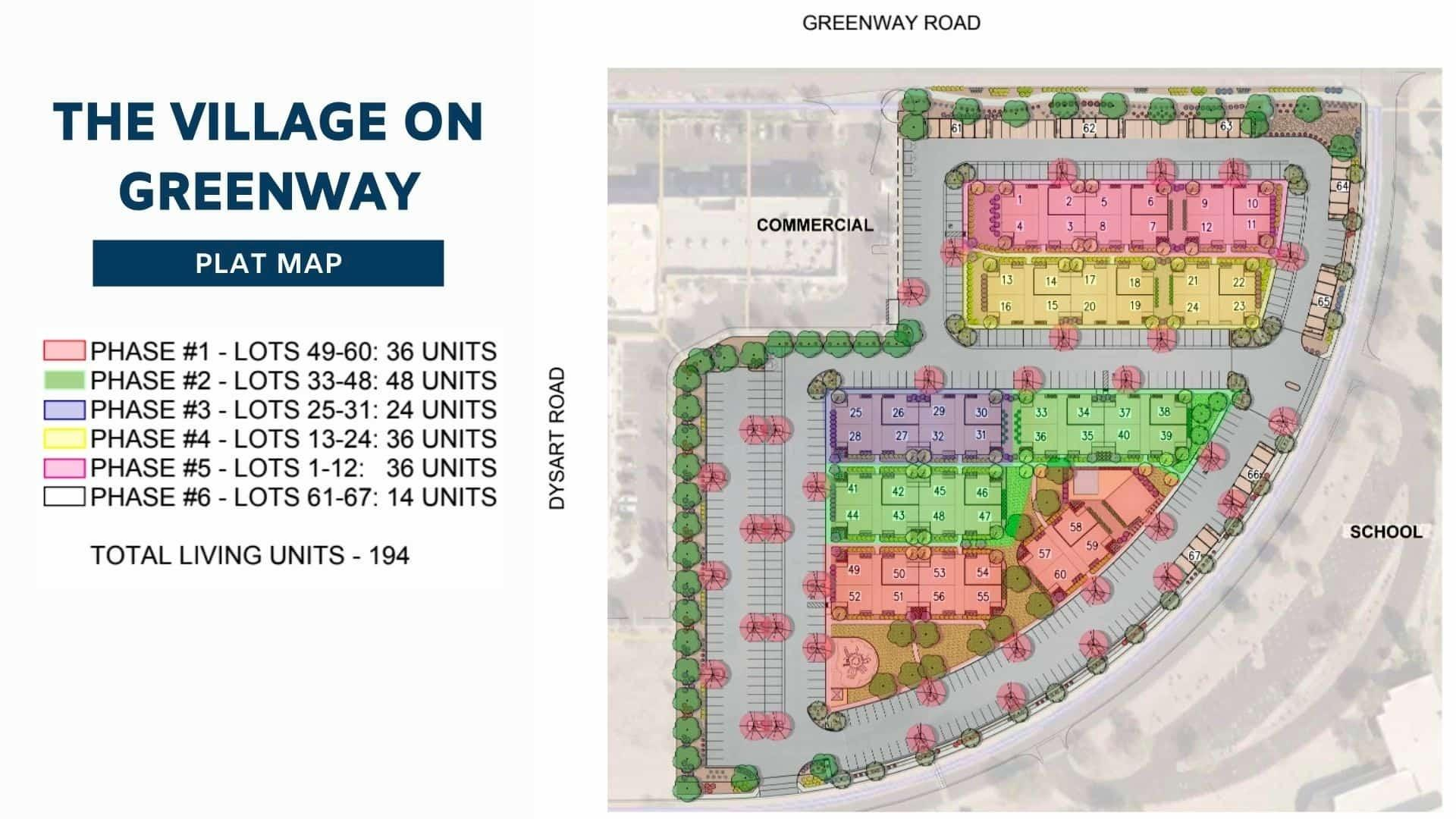 small multifamily units called the Village on Greenway