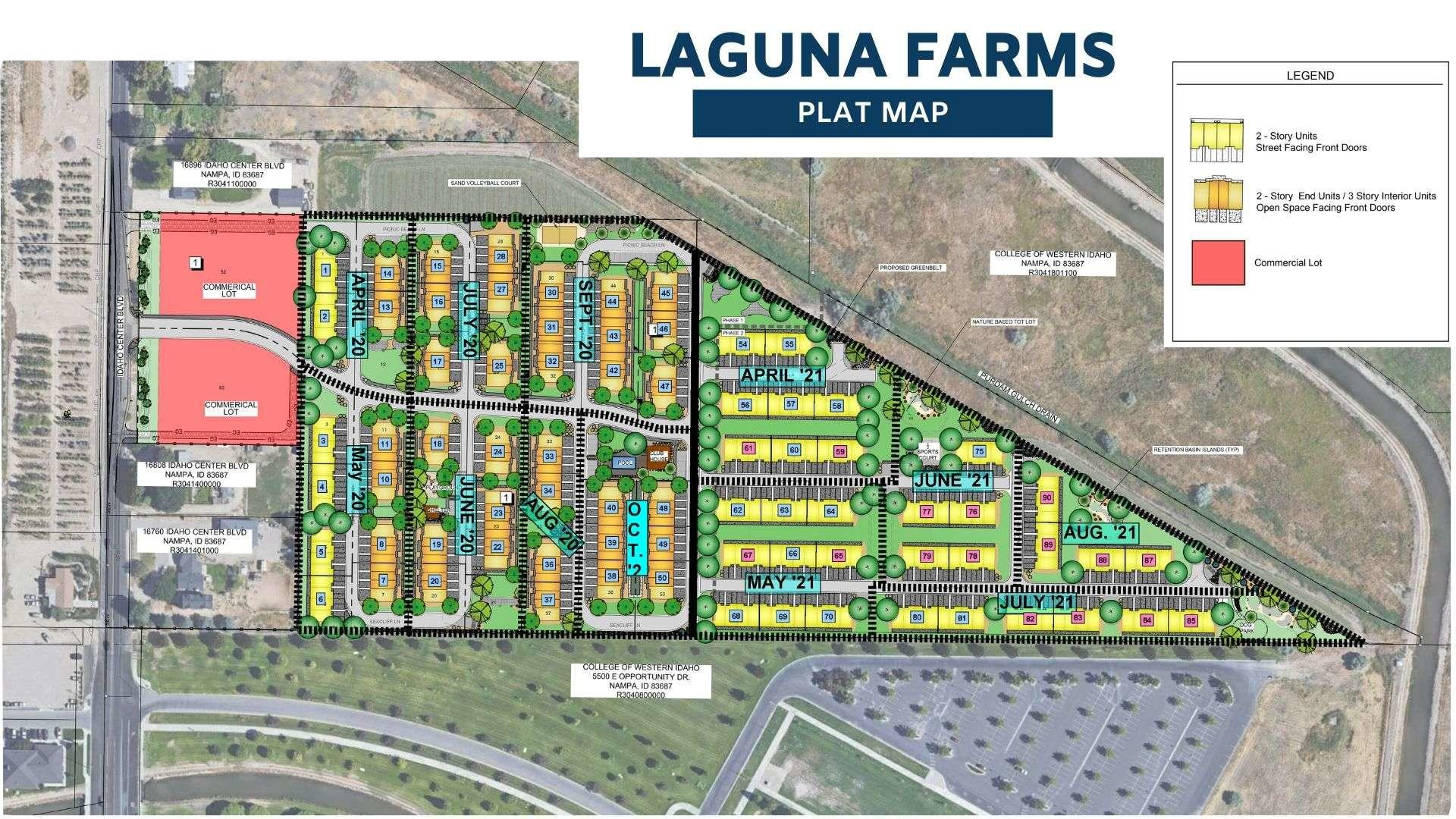 Plat Map for the Laguna Farms FIG Development