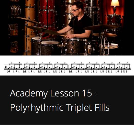 Academy Lesson 15 - Polyrhythmic Triplet Fills