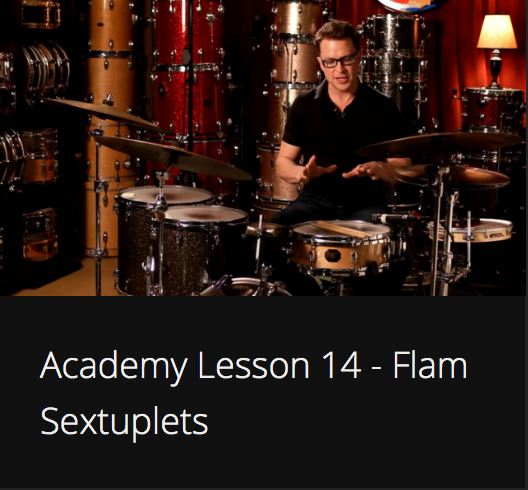 Academy Lesson 14 - Flam Sextuplets