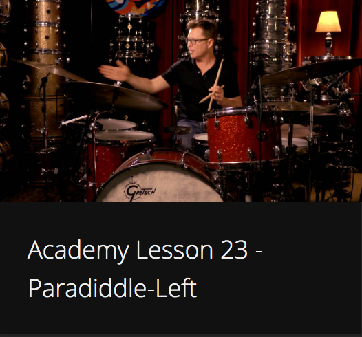 Academy Lesson 23 - Paradiddle-Left