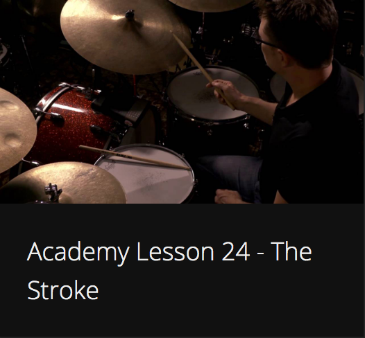 Academy Lesson 24 - The Stroke