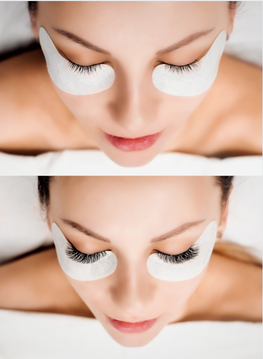 eyelash extension tint eyebrow