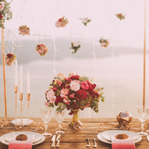 Wedding flowers and tablescape