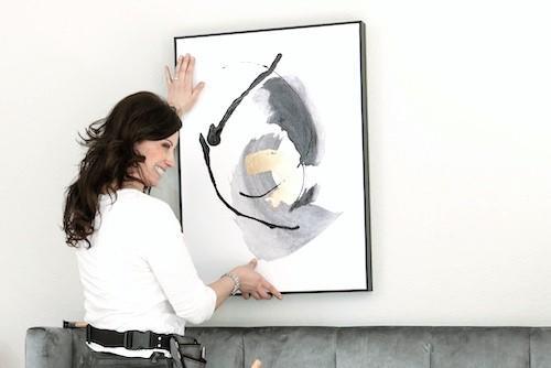 hanging art