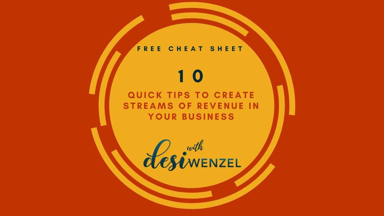 10 Quick Tips to Create Streams of Revenue in Your Business