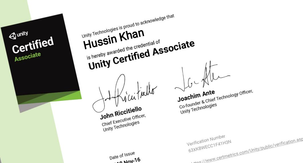 Unity Certified Associate